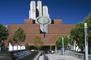 San Francisco Museum of Modern Art from Yerba Buena Gardens