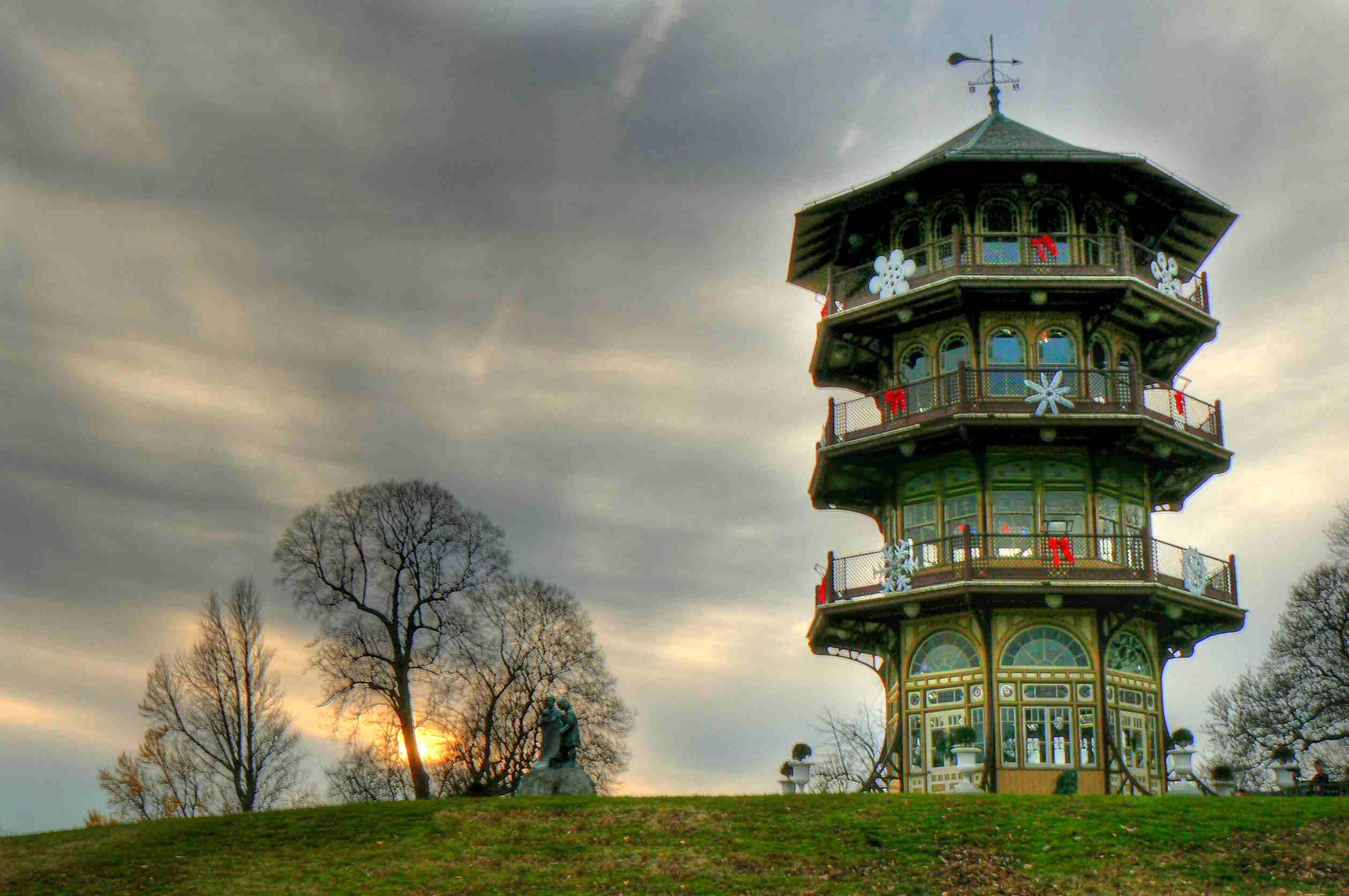 Pagoda at a park