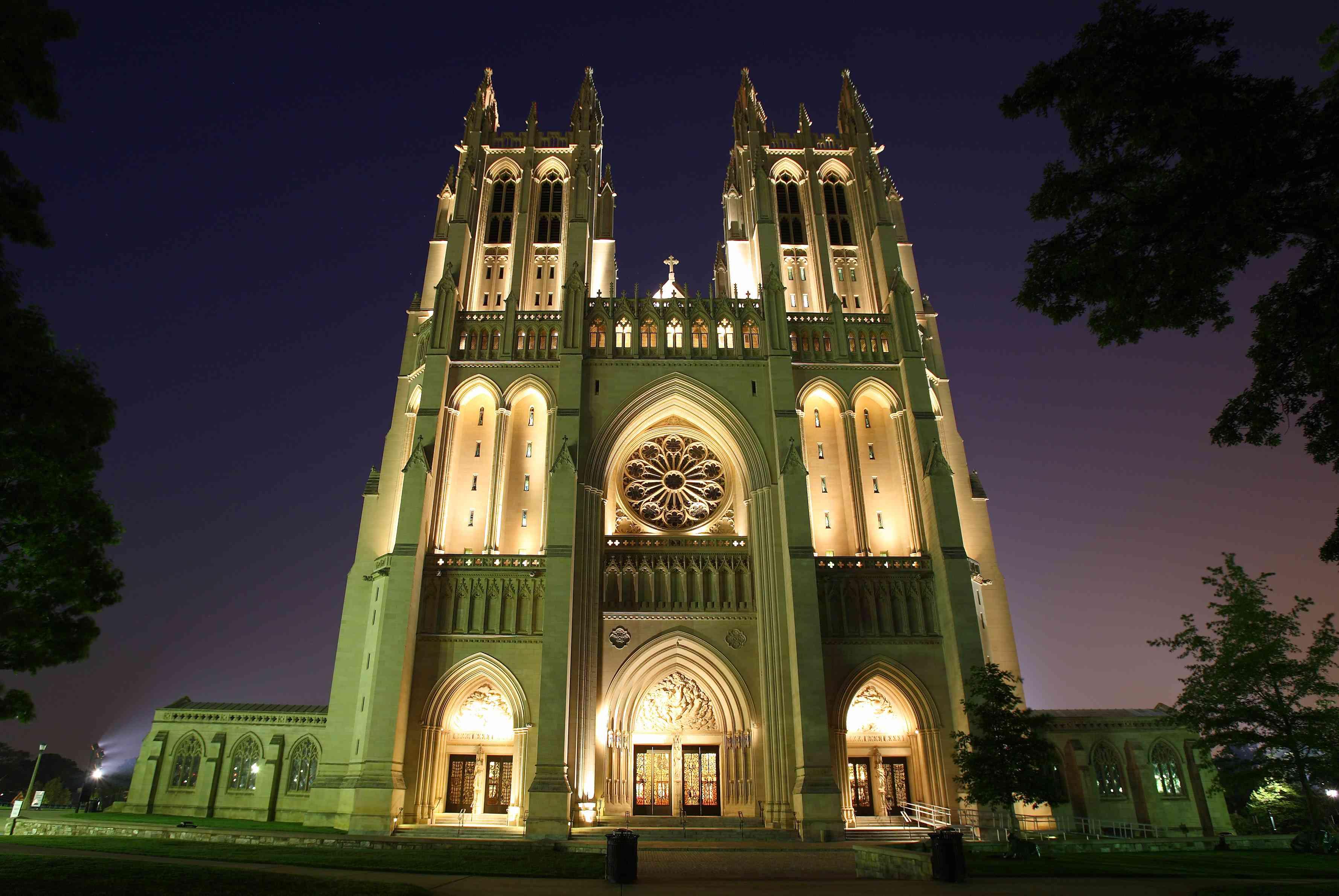 Washington National Cathedral at Night