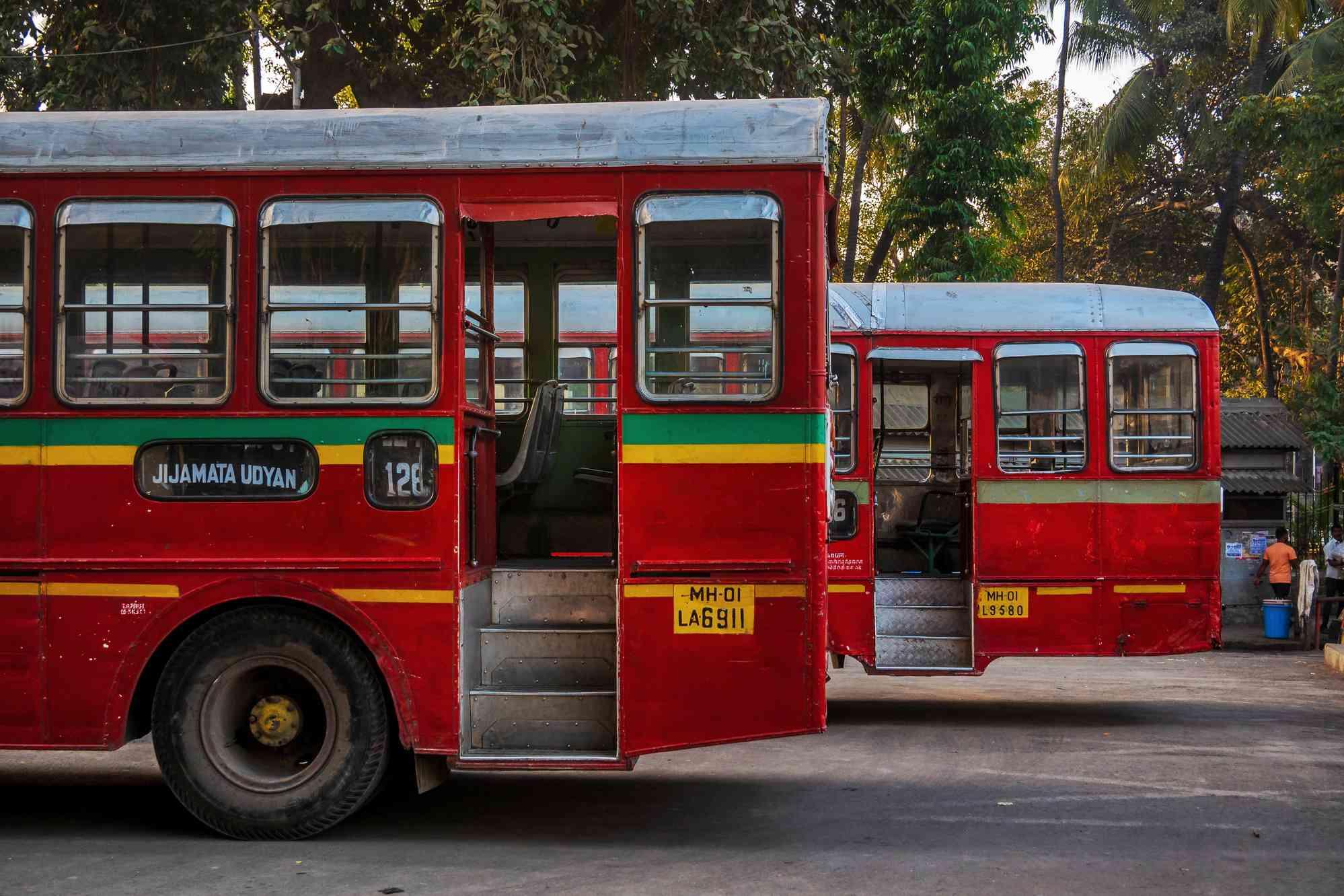 Buses in Mumbai.
