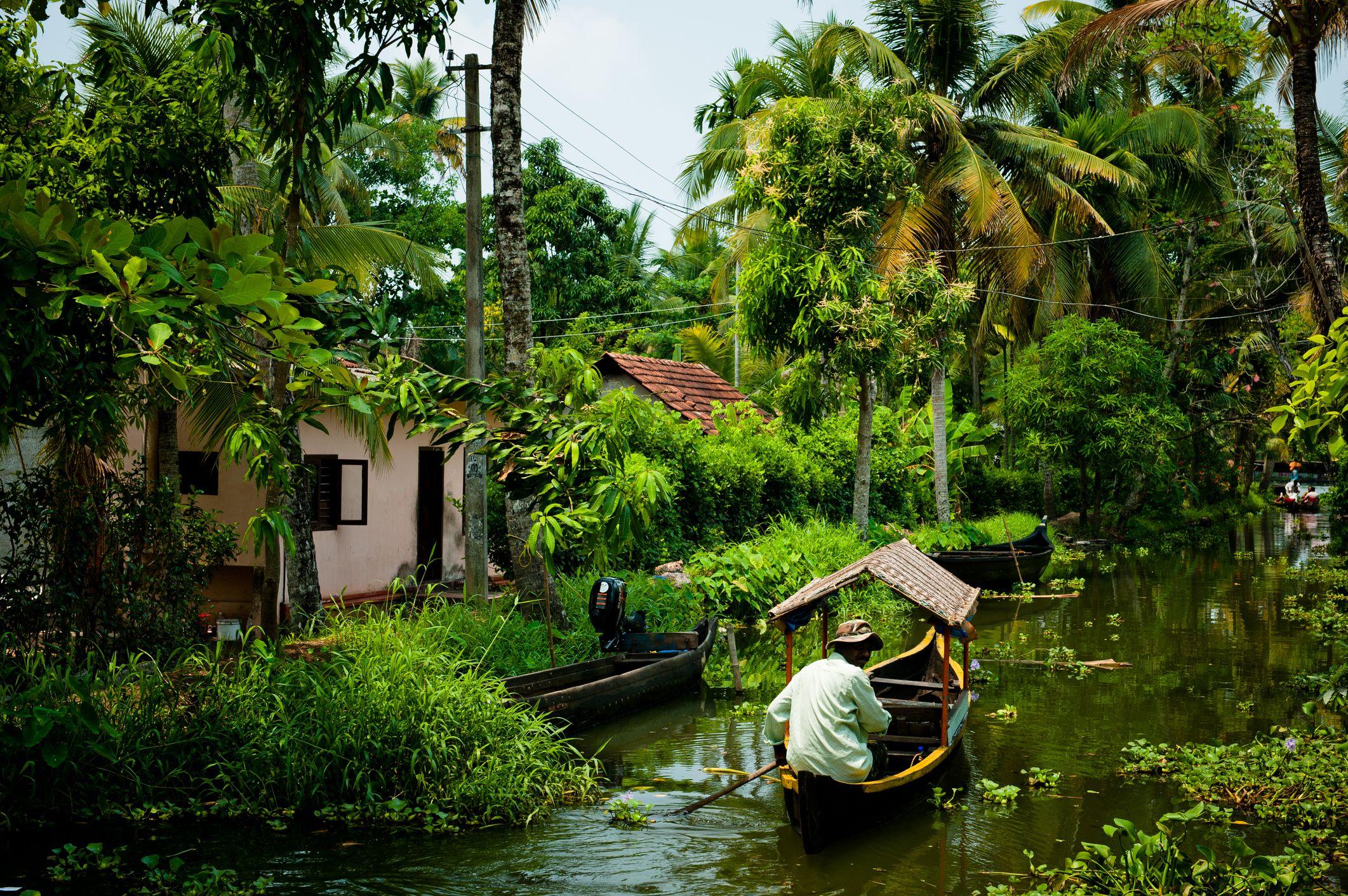 Kerala Backwaters village.