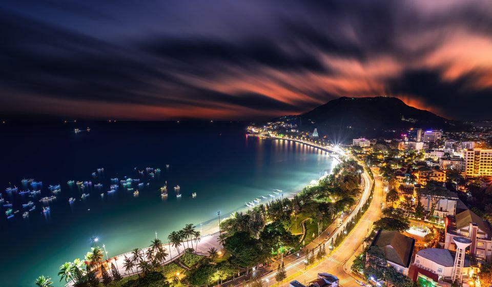Vung Tau, Vietnam at night