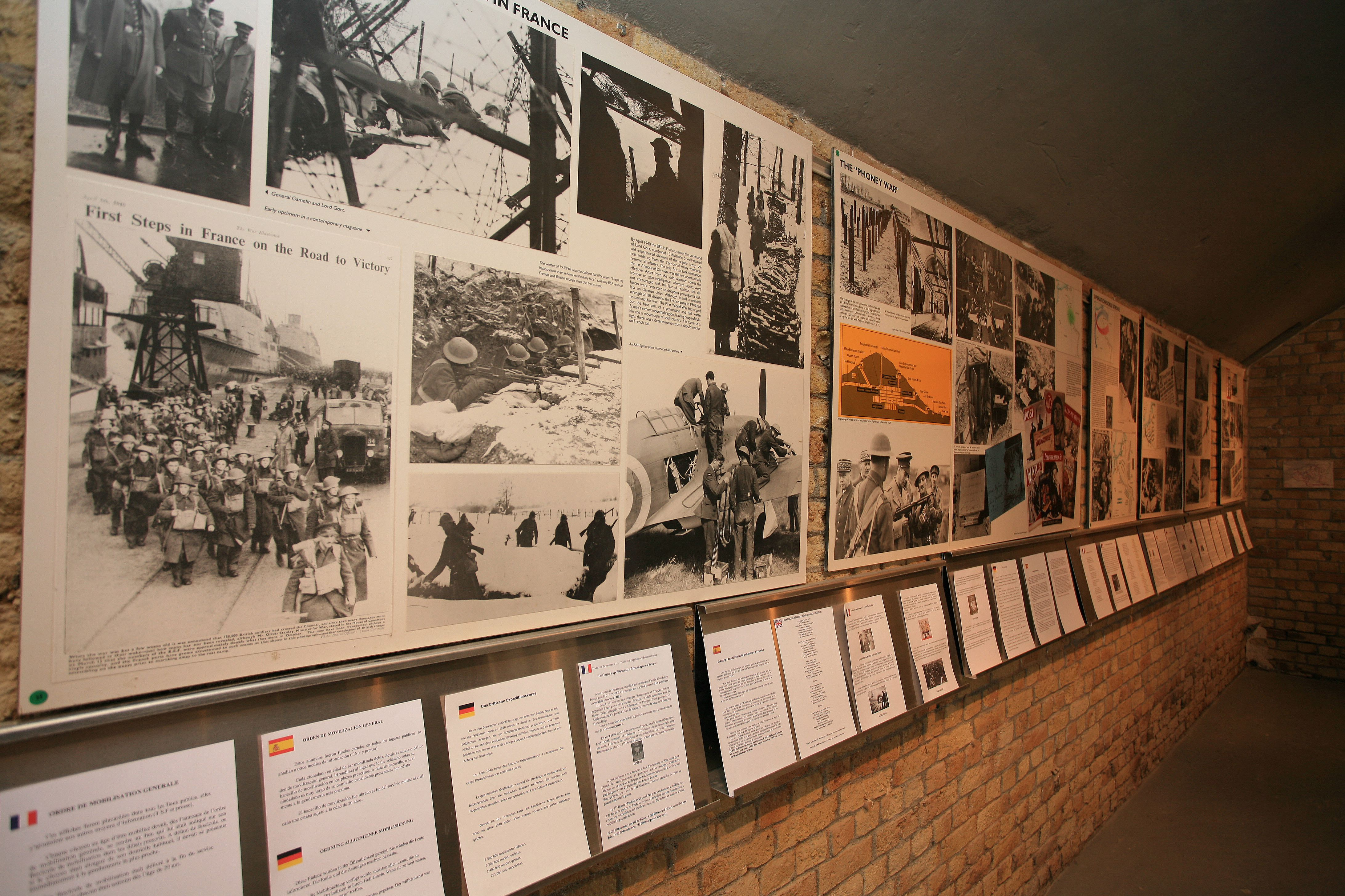 A photographic exhibit at the Operation Dynamo Museum in Dunkirk