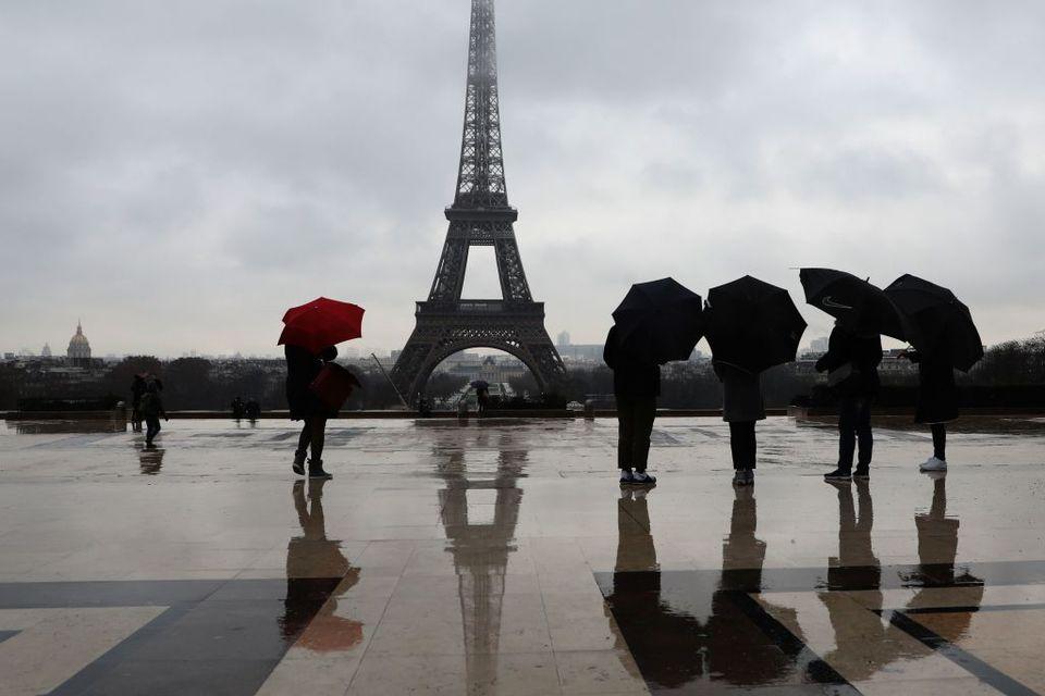 París en un día lluvioso