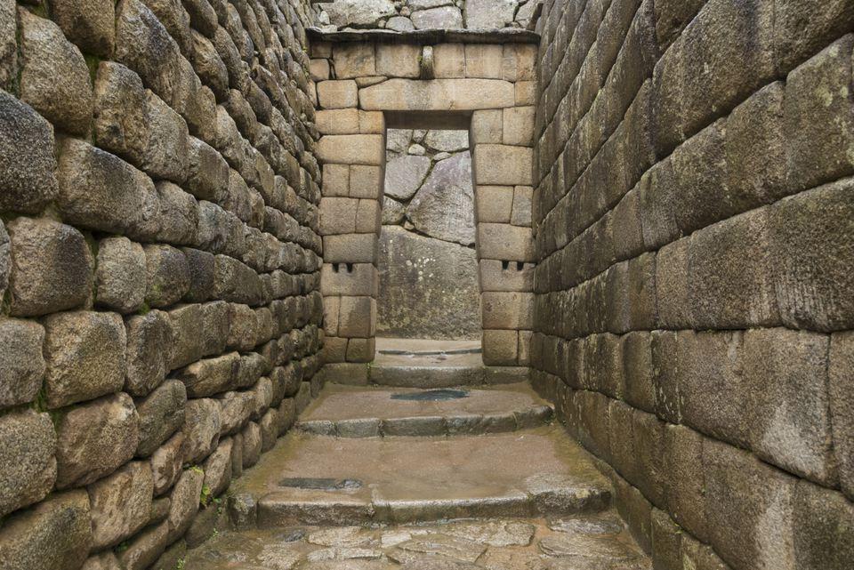 Stone doorway at Machu Picchu
