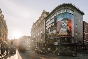 Billboard for Les Miserables in the west end