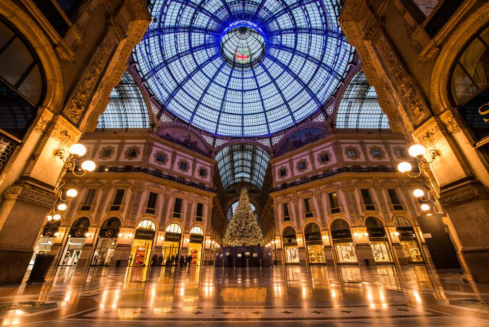 Galleria Vittorio Emanuele II in Milan at Christmas