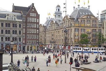 People walking on Dam Square, Amsterdam