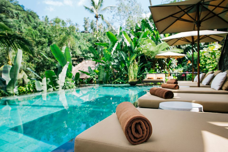 Indonesia, Bali, tropical swimming pool