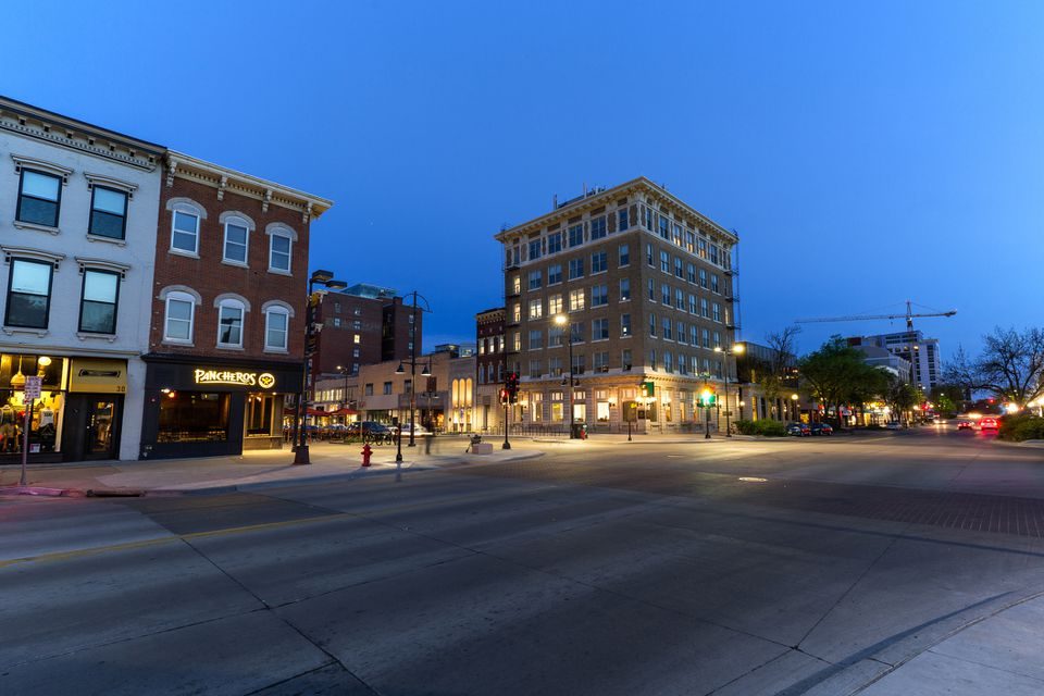 Downtown Iowa City, Iowa.
