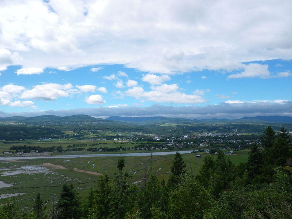 Vista de Baie-Saint-Paul en Charlevoix, Quebec, aproximadamente una hora y media al este de la ciudad de Quebec.