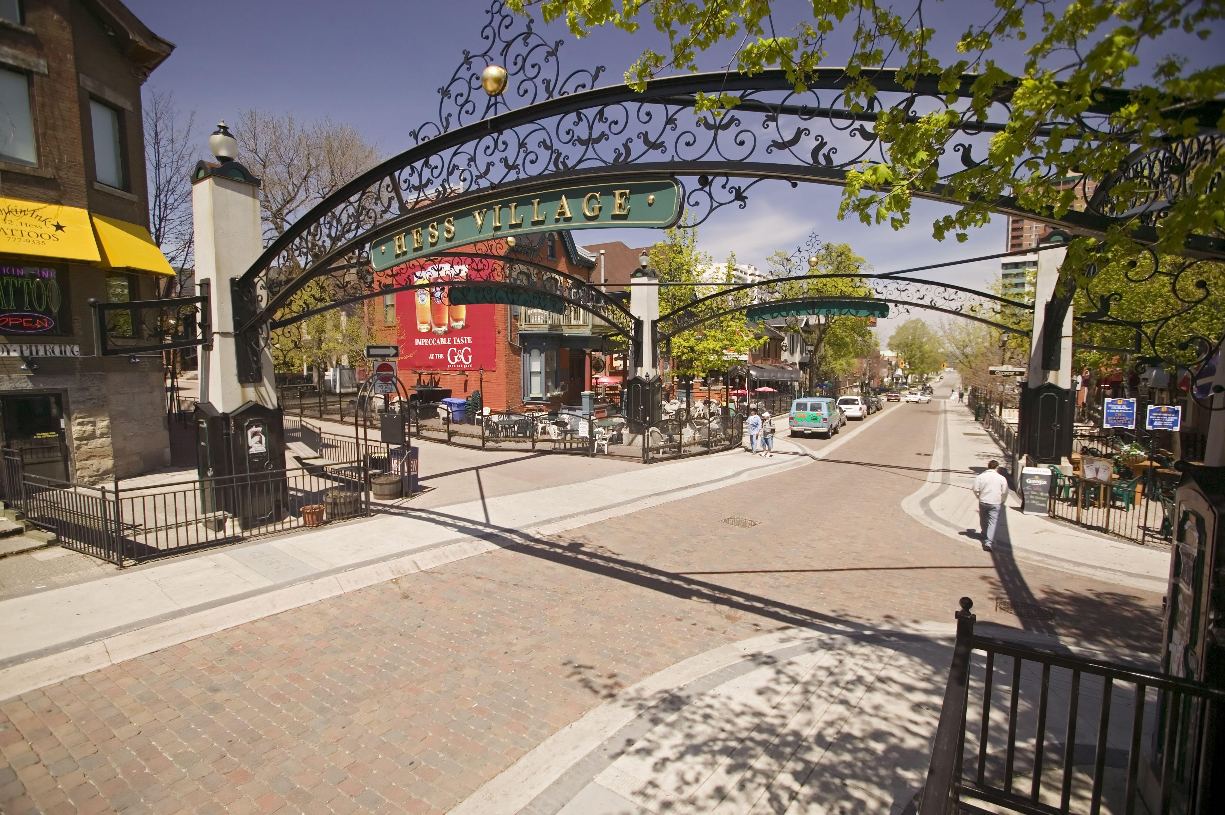 Hess Village, in Hamilton, Ontario, Canada