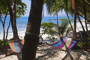 Beach hammocks on Montezuma beach.