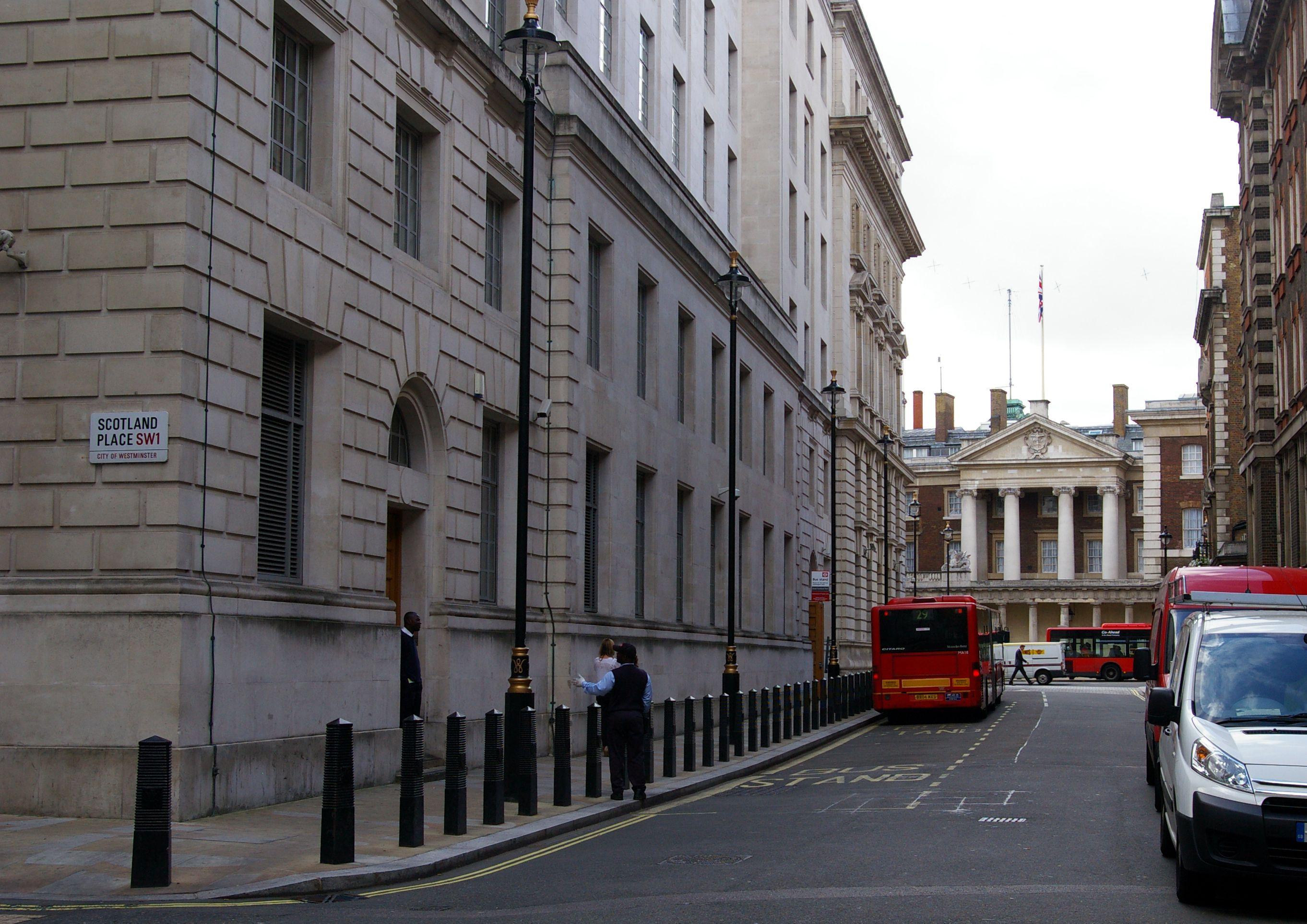 Ministry of Magic entrance, Great Scotland Yard, London