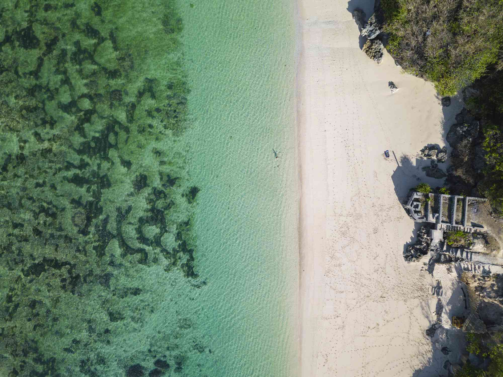 Indonesia, Bali, Aerial view of Karma Kandara beach