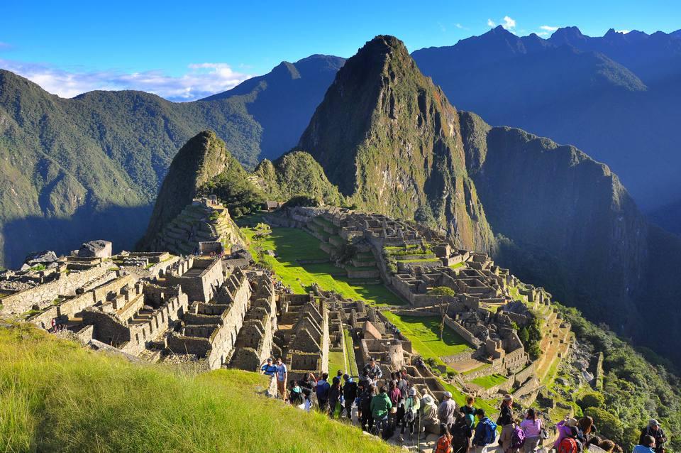 Machu Picchu with Tourists