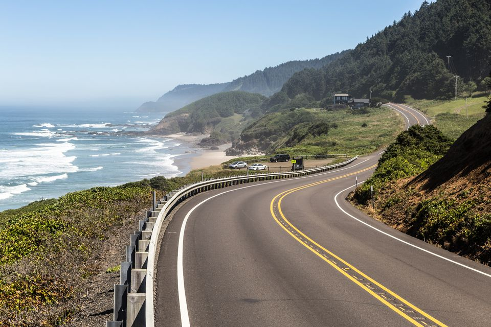 Route 101 along the Pacific Ocean
