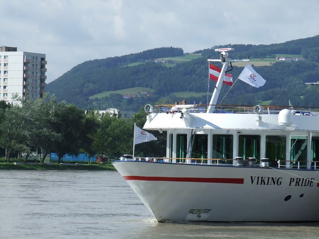 Viking Pride at the Dock in Linz, Austria