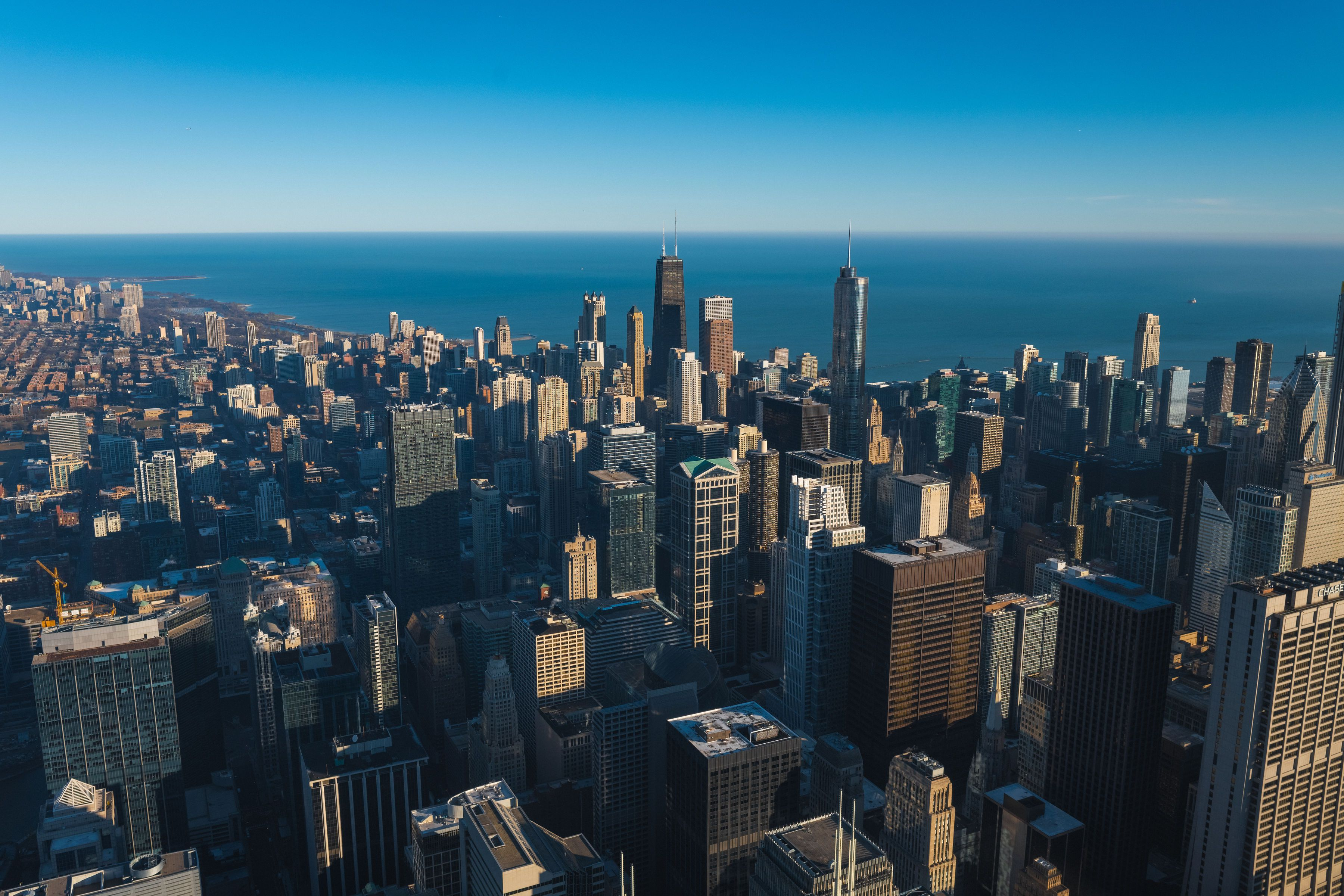 View from the Willis Tower deck (formerly the Sears Tower)