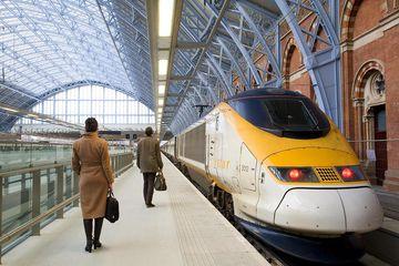 United Kingdom, London, St Pancras International train station, Eurostar trains