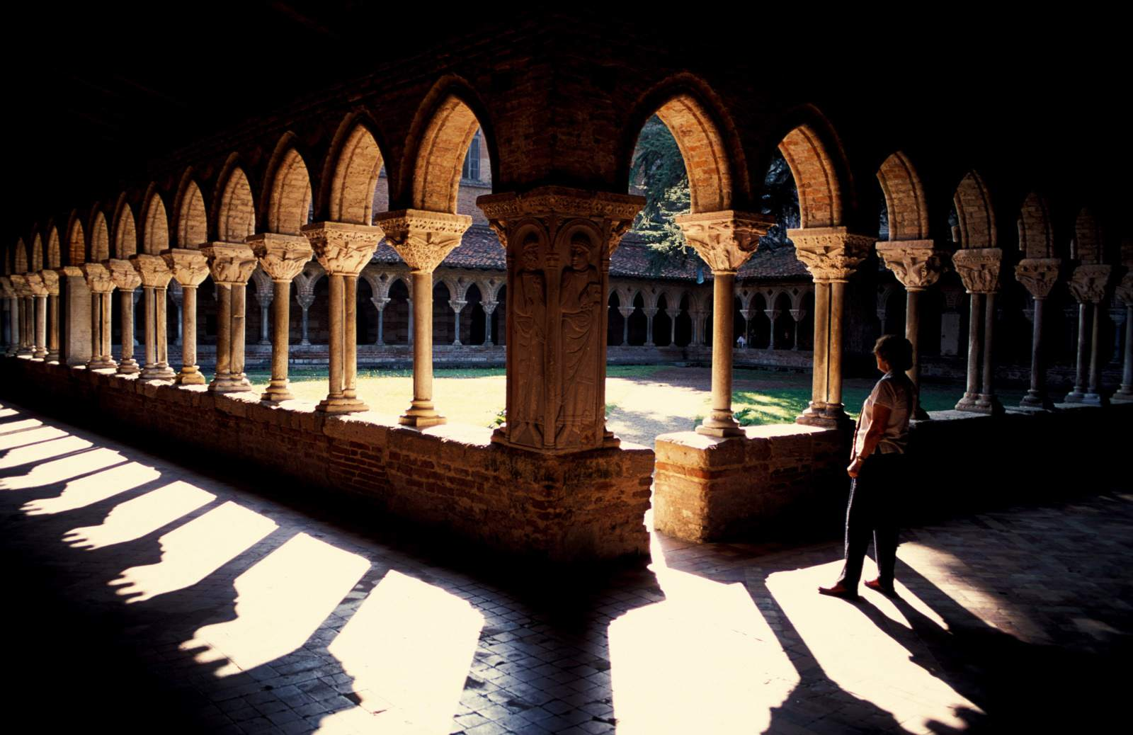 The Cloisters of Moissac Abbey in the Midi-Pyrenees