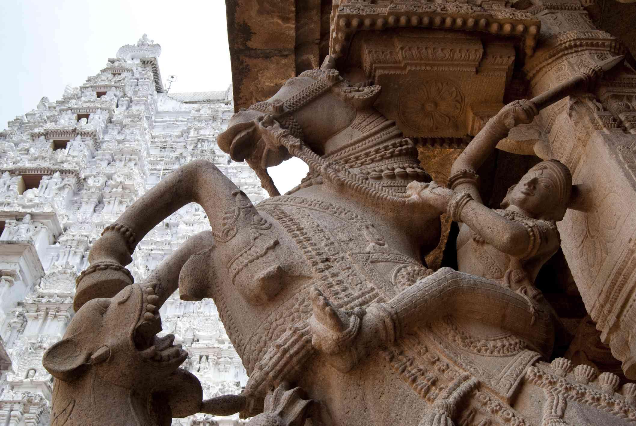Battle-horse sculpture, Sri Ranganathaswamy Temple