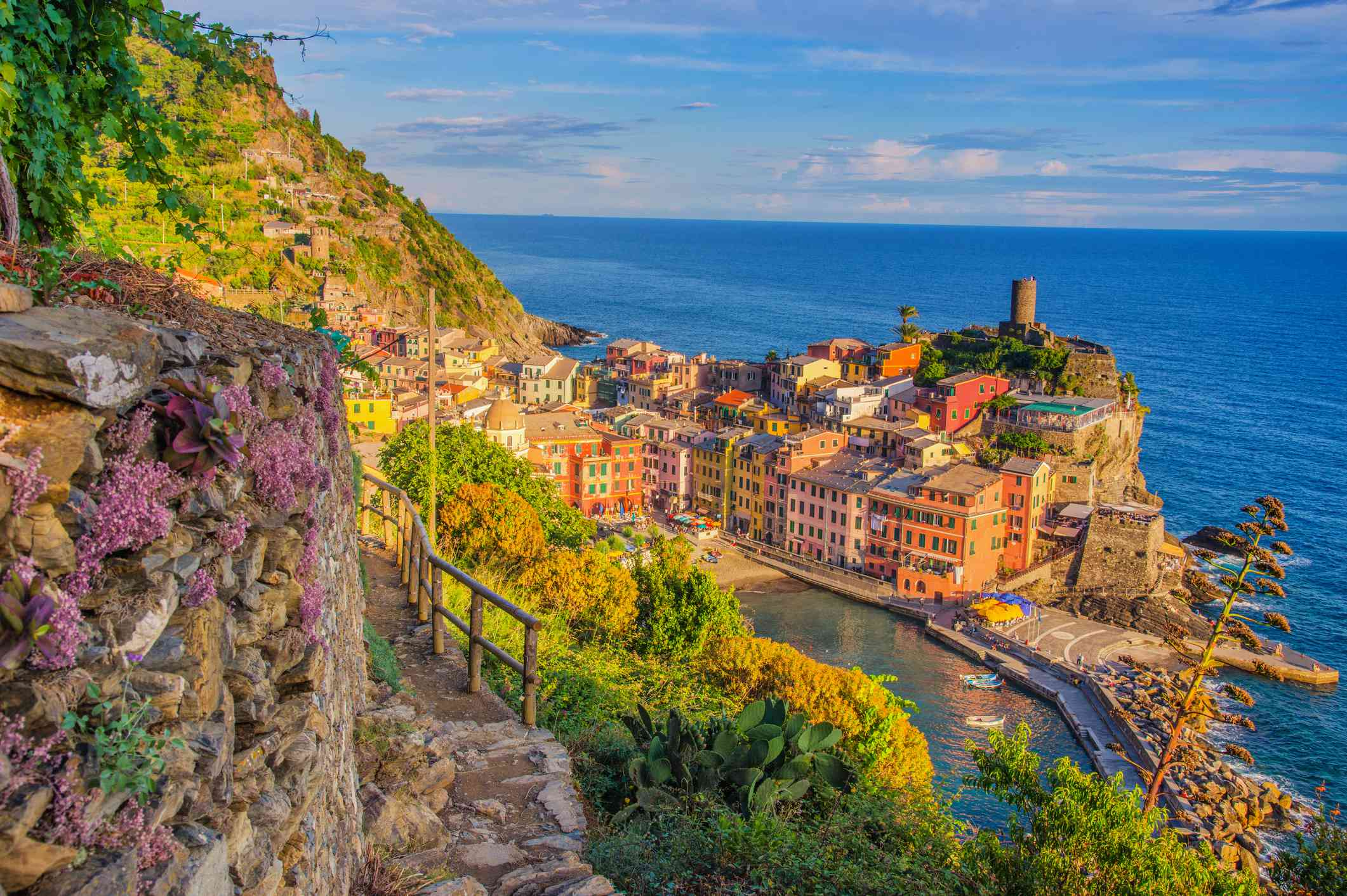 Walking trail down to Vernazza