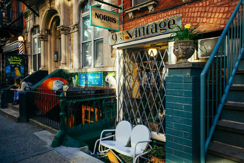 Vintage store in the East Village, New York City
