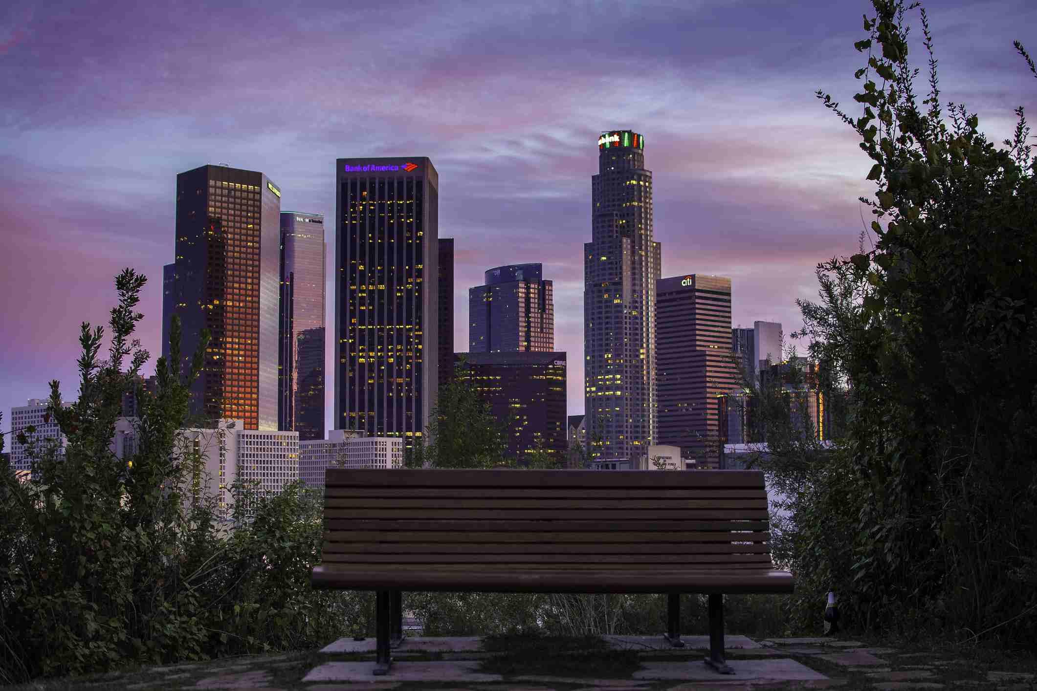 Downtown LA from VIsta Hermosa Park