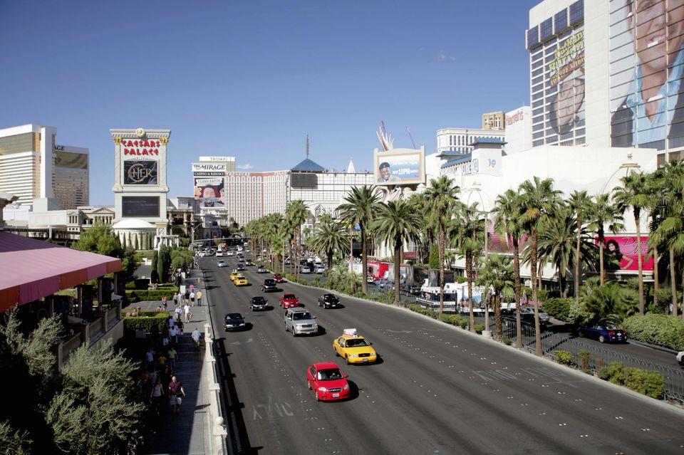 The famous Las Vegas Strip, Las Vegas, Nevada