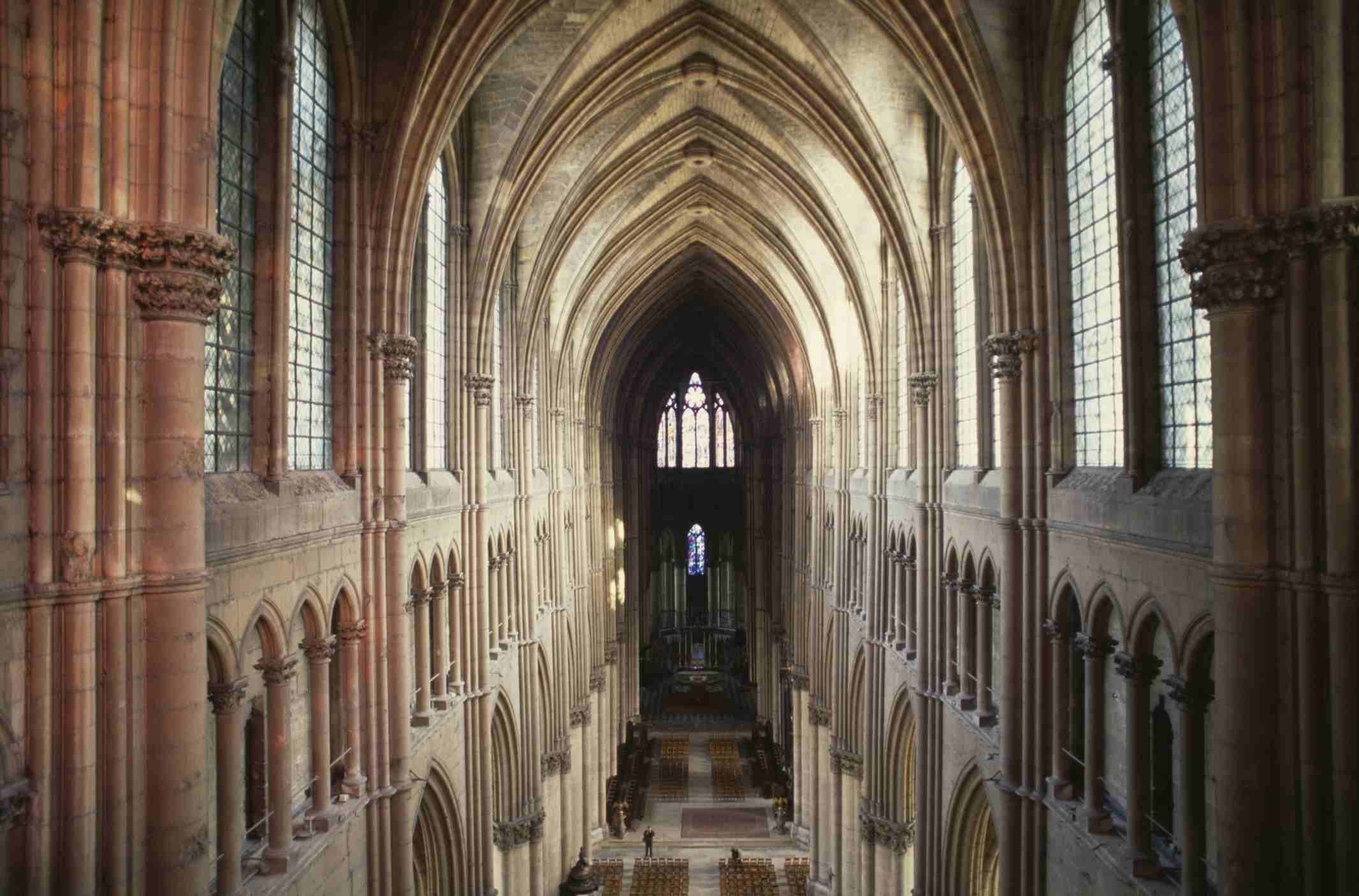 Nave of Cathedral of Notre-Dame (UNESCO World Heritage List, 1991), Reims, Champagne-Ardennes, France, 13th century