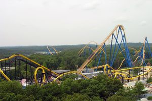 Nitro roller coaster at Six Flags Great Adventure.
