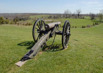A cannon at Perryville Battlefield State Historic Site in Kentucky
