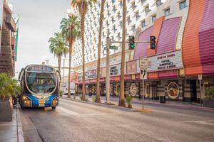 Public transportation, downtown Las Vegas