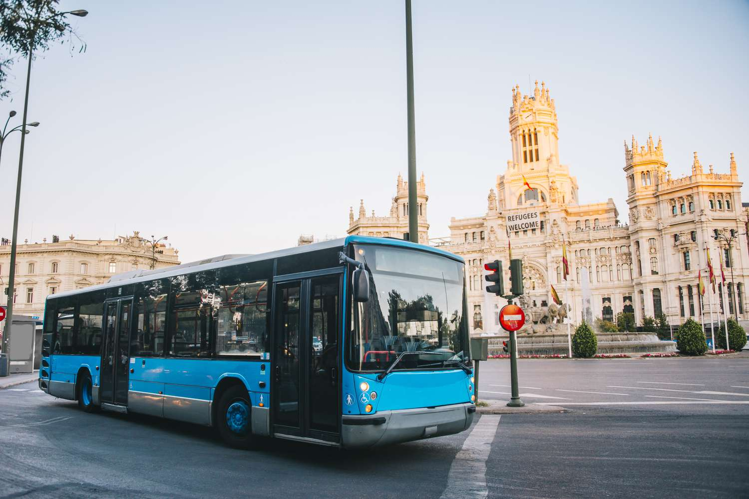 A city bus in Madrid, Spain