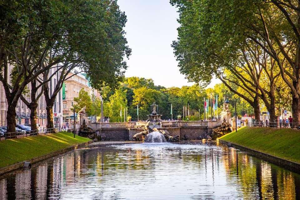 Königsallee in Düsseldorf, Germany