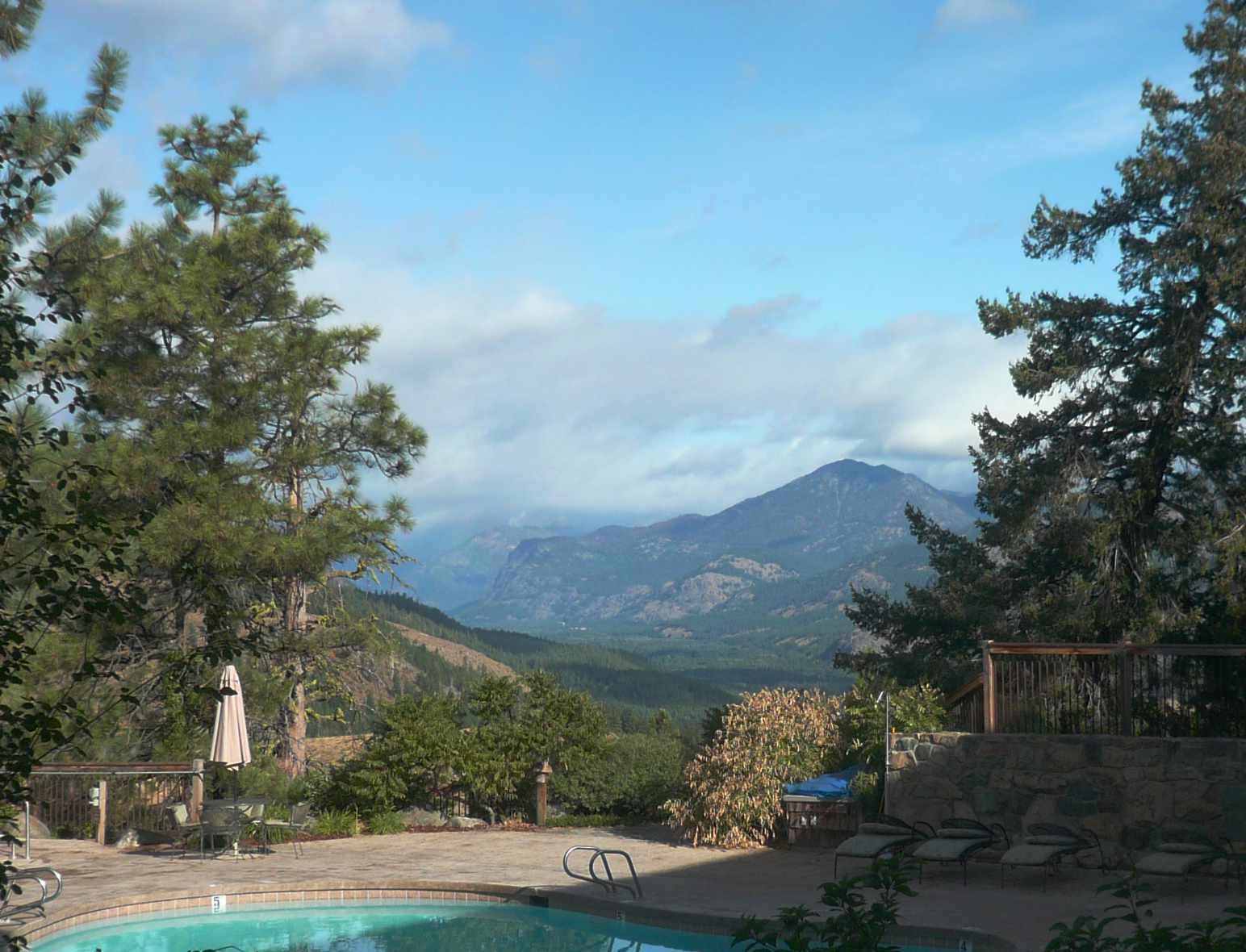 View from Pool at Sun Mountain Lodge