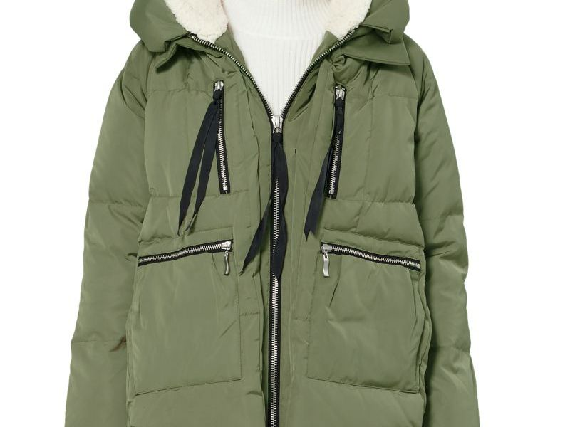 Lot 2 Women/'s Small Winter Coats Hooded Parka Jackets Insulated Warm Down Filled