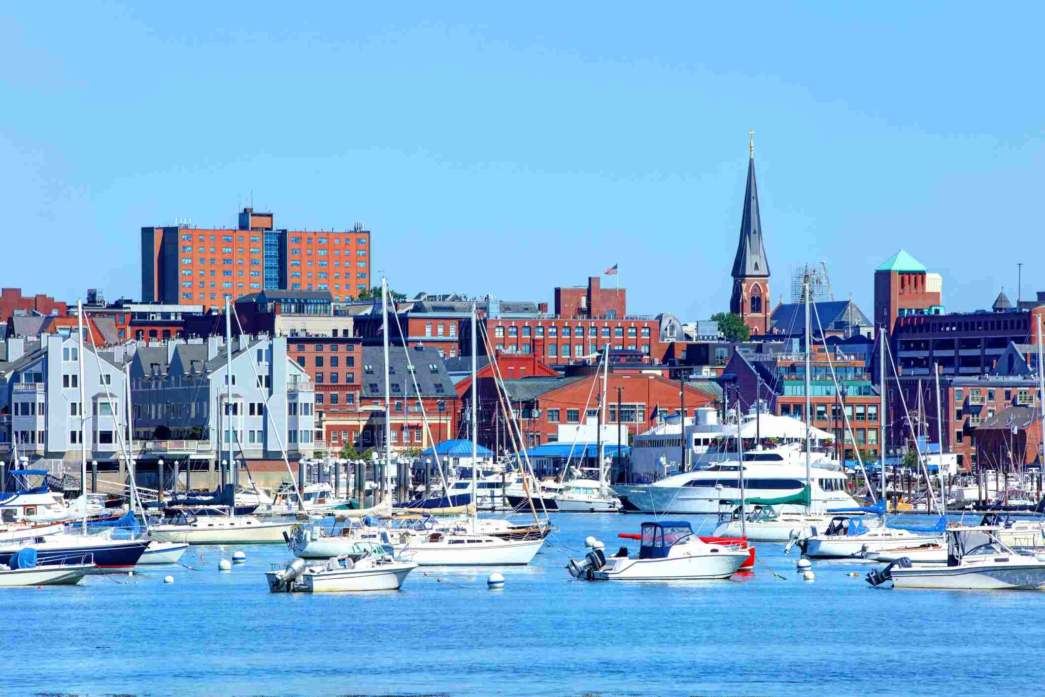 Portland, Maine from the harbor