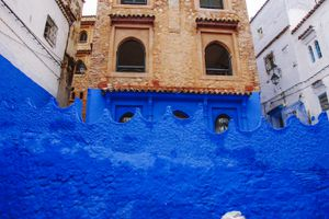 Bright blue walls in Chefchaouen