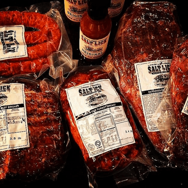 Salt Lick BBQ prepared for shipping.