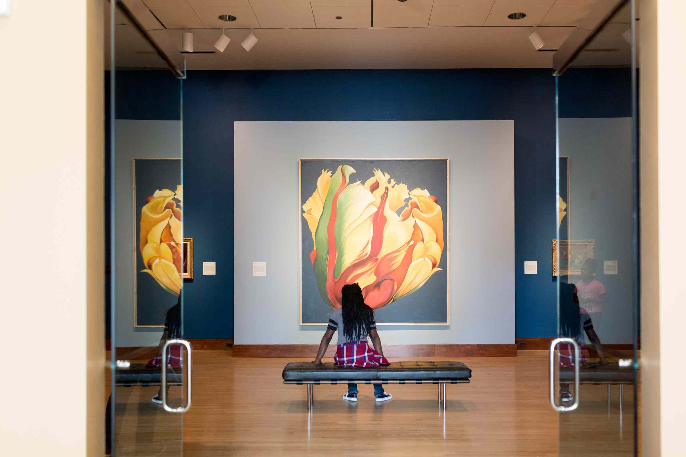 Young girl at the Oklahoma City Museum of Art