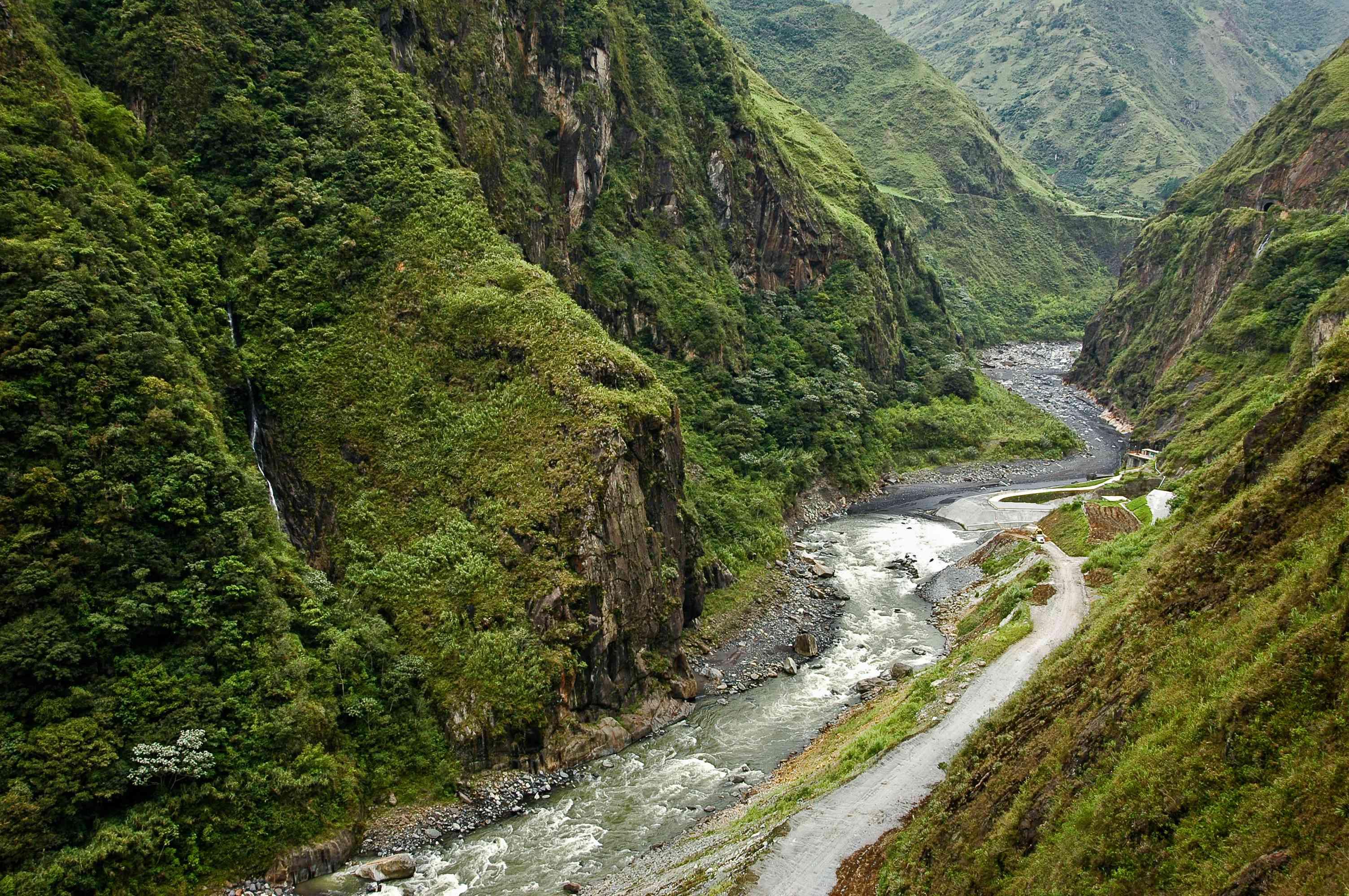The Pastaza River, Baños, Ecuador