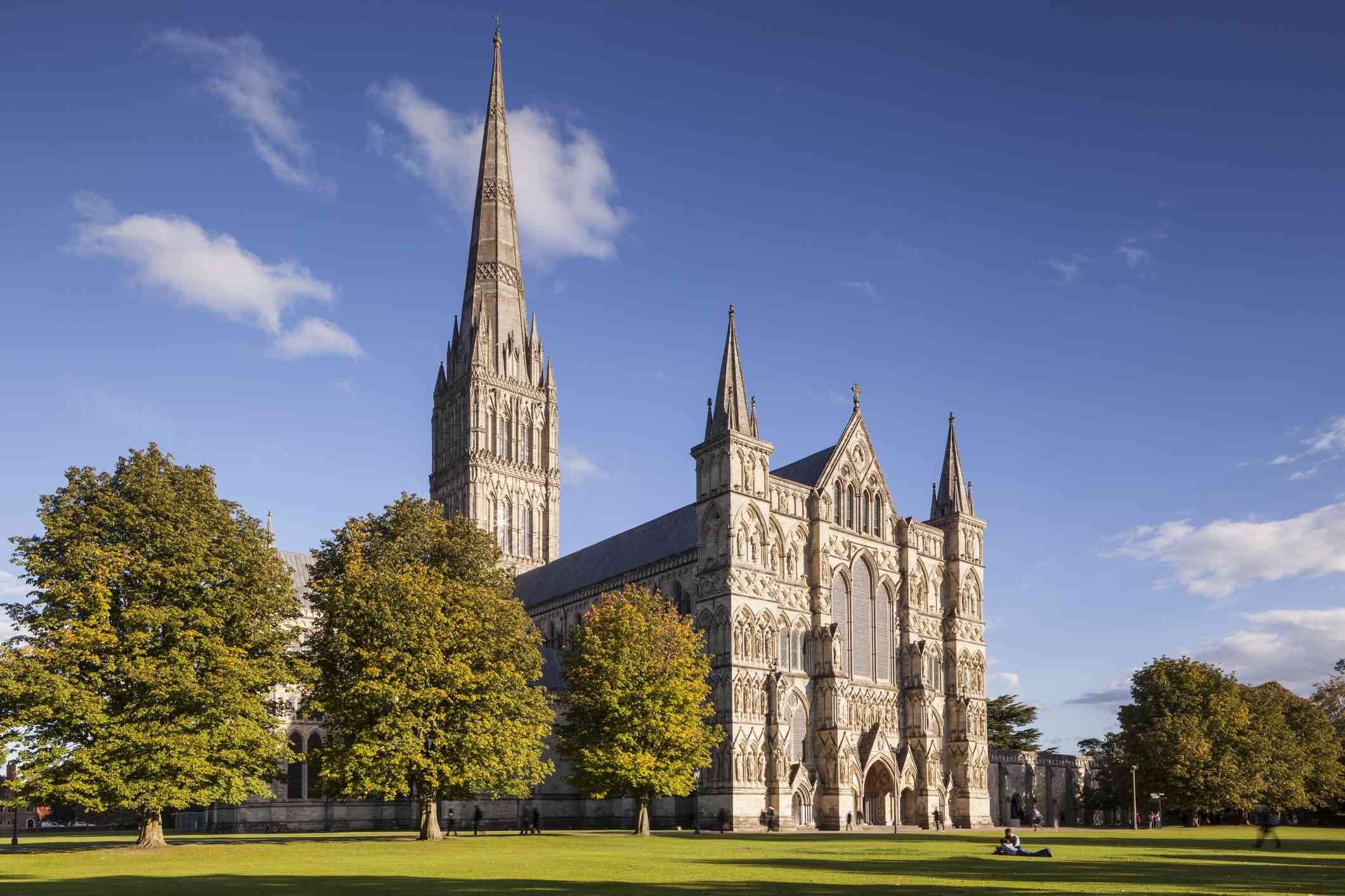 West front of Salisbury cathedral in Salisbury