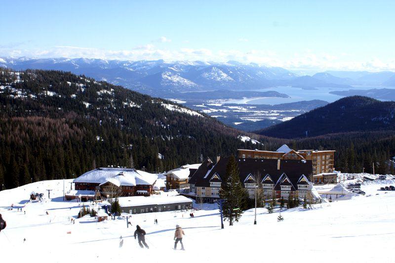 Schweitzer Village in Winter