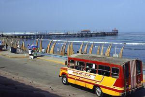 A short-haul bus near Trujillo.