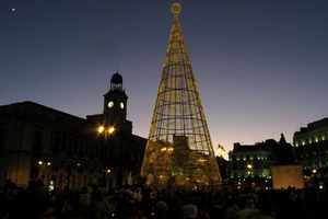 Christmas tree in Madrid, Spain
