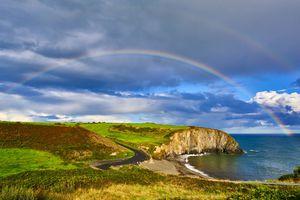 Ireland, County Waterford, Copper Coast, Copper Coast UNESCO Global Geopark, Ballyvooney cove