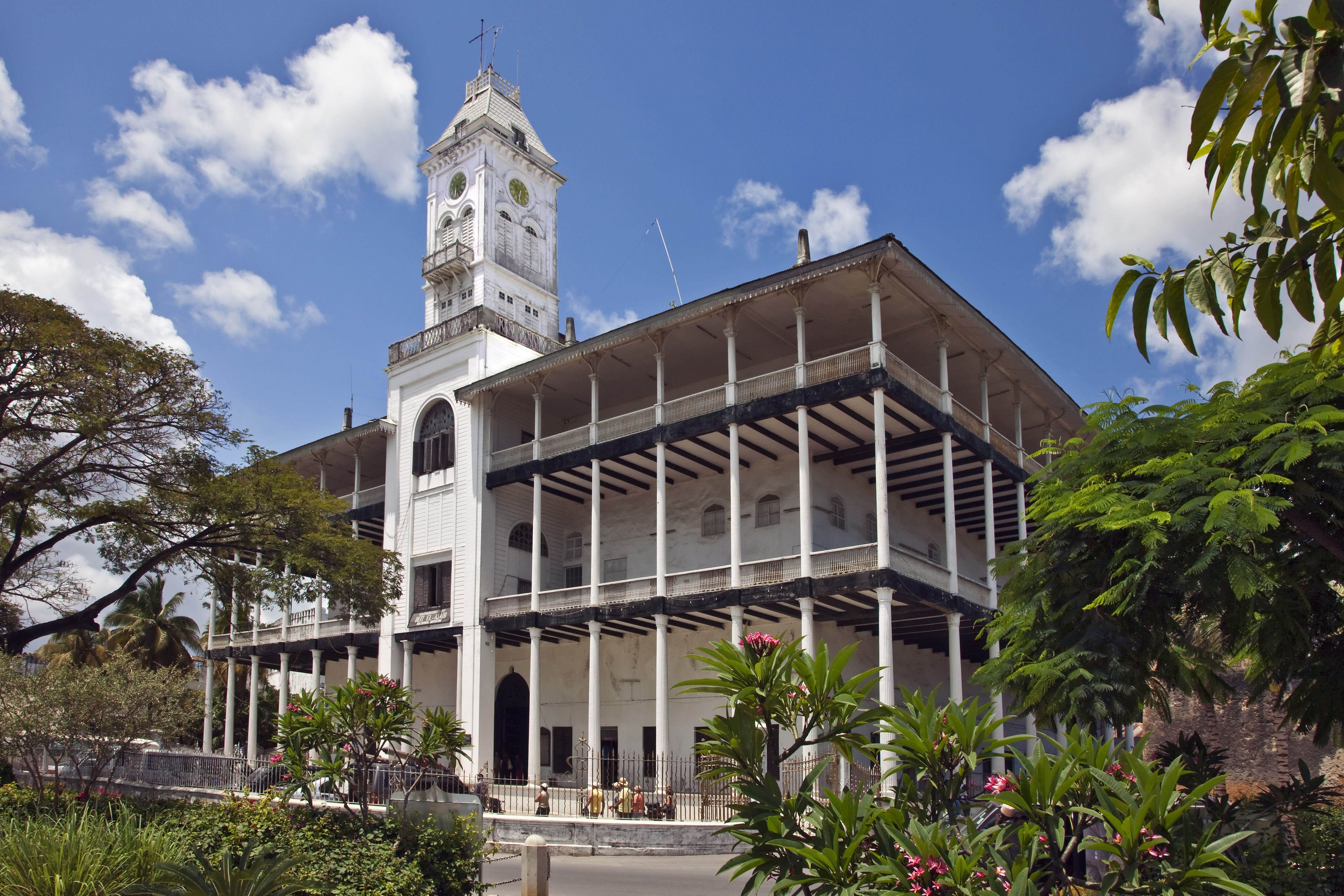Beit al-ajaib or House of Wonders, Zanzibars best-known building. Built by Sultan Barghash 1883.