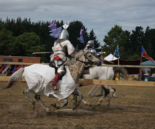 Jousting at the Great Lakes Medieval Faire in Geneva Ohio